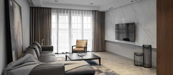 180平的现代,敞亮的落地窗瞬间扩大屋子的空间!