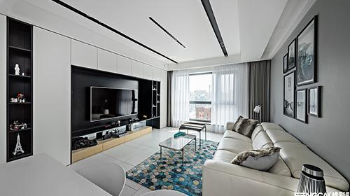 龙德花园120平现代风格-设计师:黄大庆