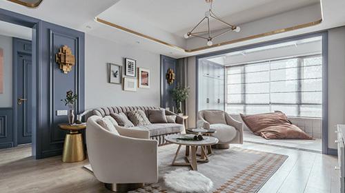 聚缘公寓130平美式-设计师:王金涛