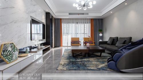 『高灰别墅设计』——张连萍-首席计师-[大名城 190㎡大平层]现代